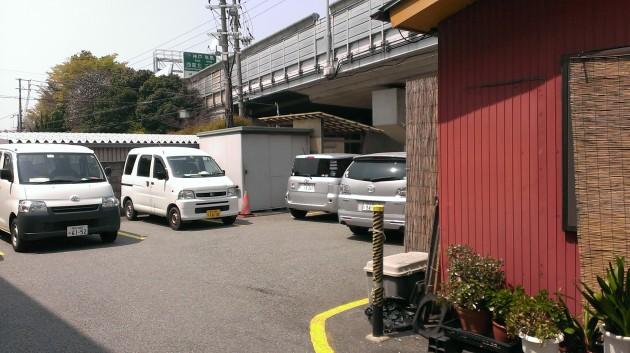 最大5台止められる駐車場は満車